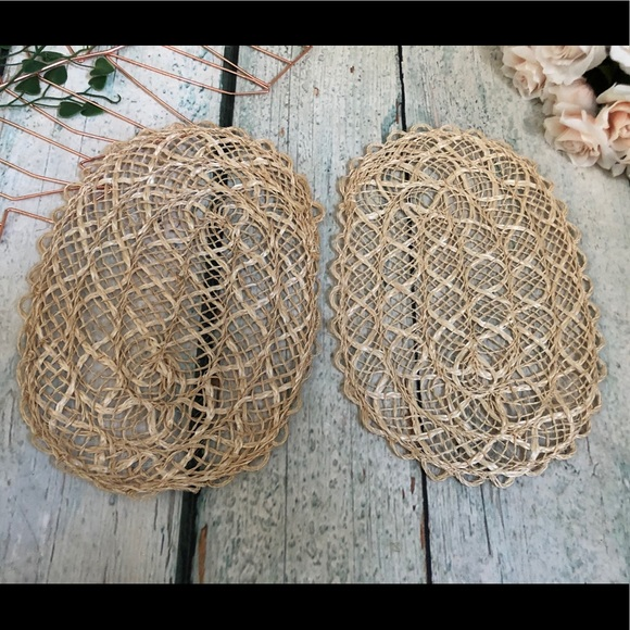 3/$25 placemats 2 weave crochet boho table decor